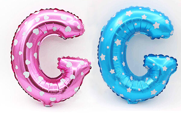 "16"" Foil Balloons 26 Alphabet Letters A-Z Wedding Birthday Party Decor Blue Pink"