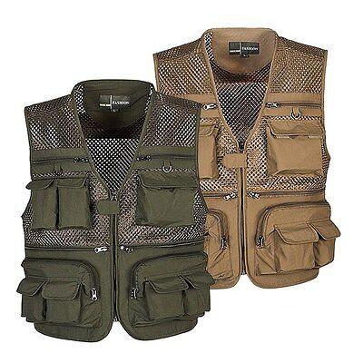 Hunting Fishing Vests Photographer Director Waistcoat Breathable Fishnet Jacket