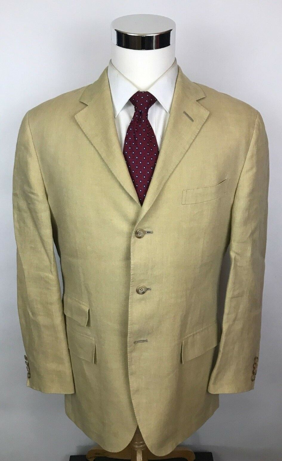 Polo Ralph Lauren Polo IV Flax Beige Slim Fit 3 Roll 2 Button Blazer Sport Coat