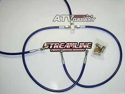 "2/"" FRONT BRAKE LINES LINE KIT ATV SMOKE HONDA TRX400EX 1999-2016+ STREAMLINE"