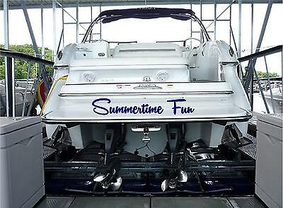 Personalized Boat Name Sticker 10x50 Custom Boat Name Decal Stickers