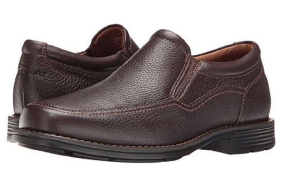Rockport Para hombre real antideslizante en mocasines de vestir Zapatos Capital Marrón 8 Nuevo En Caja