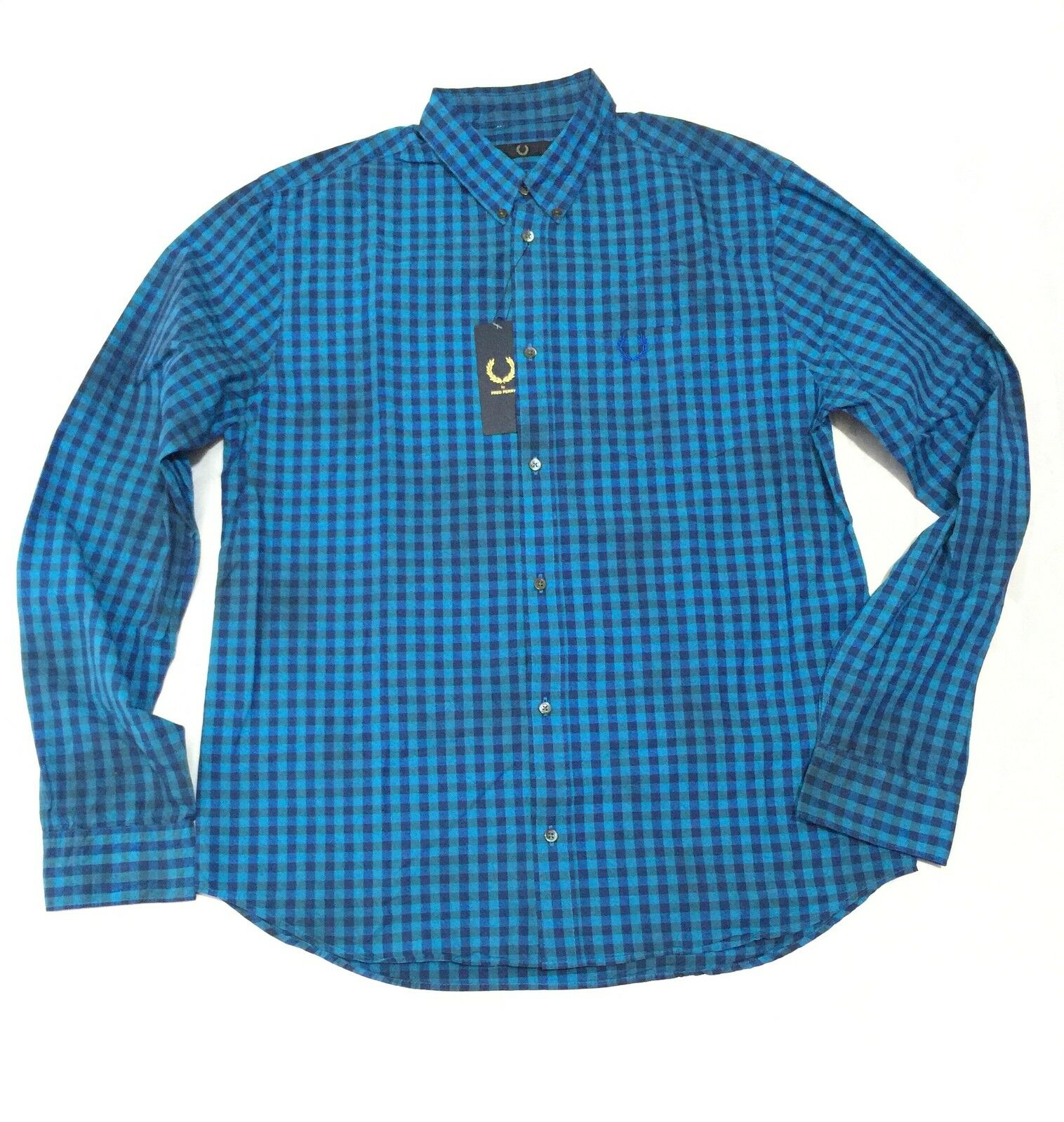 Fred Perry Tie Dye Men's Long Sleeve Shirt M5158-201