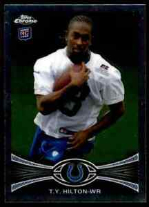2012 Topps Chrome #168 T.Y. Hilton ROOKIE Indianapolis Colts / FIU