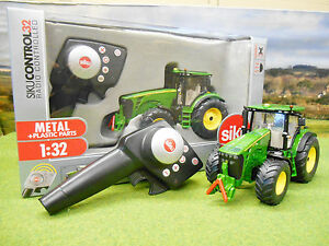 Siku-Radio-Control-De-John-Deere-8345R-Tractor-Set-1-32-6881-Nuevo