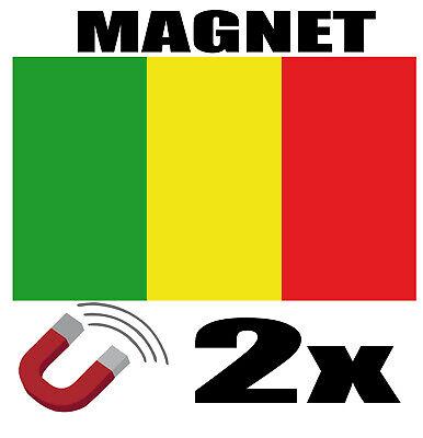 2 X Mali Drapeau Magnet 6x3 Cm Aimant Déco Magnétique Frigo Ritardare La Senilità