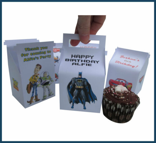 Personalised Single Cupcake Boxes VARIOUS DESIGNS Great for kids Parties