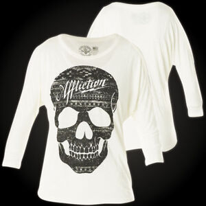 Affliction Starry Pullover Ladies White Night rqAOrwgS