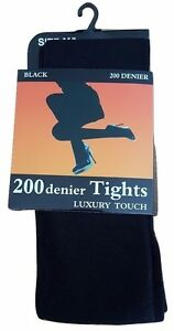 Thermal-warm-200-Denier-Tights-Luxury-Touch-Soft-Cosy-Warm-Winter-Tights-BLACK