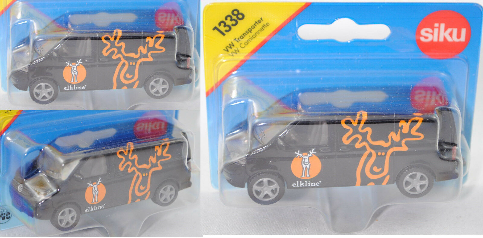 SIKU SUPER 1338 00421 vw t5 transporteur, Elkline ®, modèle spécial