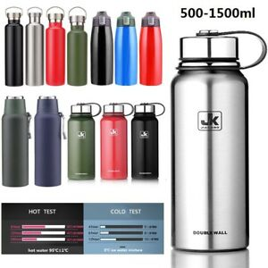 44ac4e8058 Image is loading Double-Walled-Vacuum-Insulated-Water-Bottle-Stainless-Steel -
