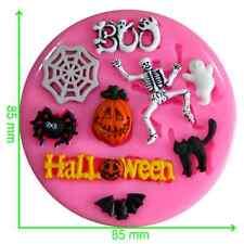 Halloween Boo Bat Esqueleto Ghost Spider Etc Silicona Molde por FAIRIE bendiciones