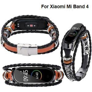 Fuer-xiaomi-mi-band-4-ersatz-leder-perlen-armband-strap-weave-geflochten