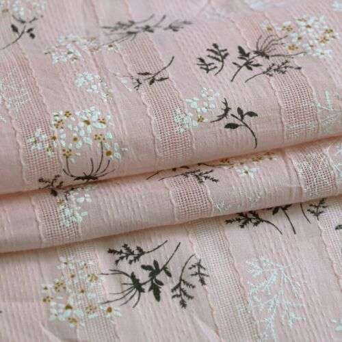 1Yard*140cm Elegant Floral Lace Embroidery Cotton Fabric Material For Shirt