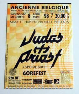 JUDAS-PRIEST-Rare-billet-concert-Collector-ticket-BELGIUM-Brussel-08-04-1998