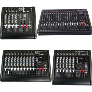 DJ-Studio-Power-Mixer-Amplifier-16DSP-LCD-Recording-USB-Slot-4-6-8-10-Channel
