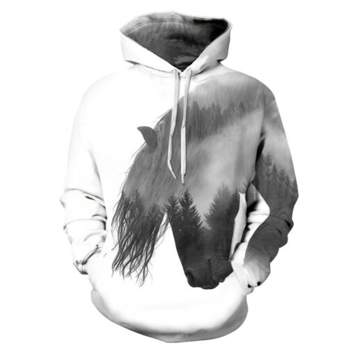 Sweat à Capuche imprimé Unisex 3D Pull Fantaisie pour Sweat-Shirt Sweat à Capuch