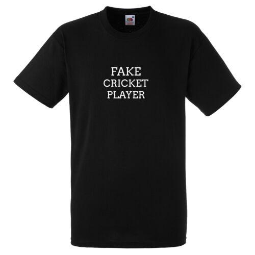Faux joueur de cricket drôle Noir T Shirt Cadeau