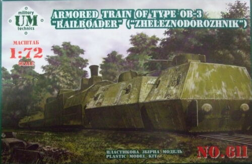 """UMmt 1//72 611 WWII Soviet Red Army Armored Train of Type OB-3 /""""Railroader/"""""""