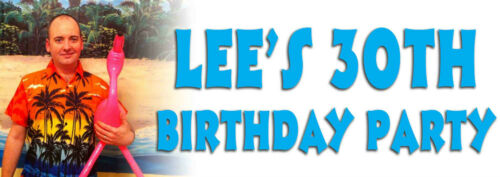 Party Banner Birthday 18th 21st 30th 40th 50th 60th 70th 80th Personalised photo