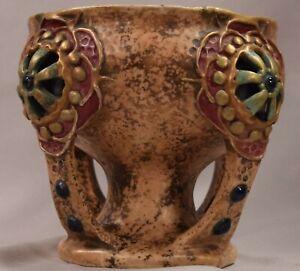 Beautiful Antique Art Nouveau Amphora Pottery Center Piece Vase Signed Numbered Ebay