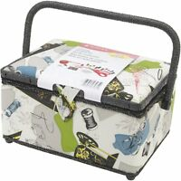 Singer Vintage Sewing Basket With Sewing Kit Accessories , New, Free Shipping on sale