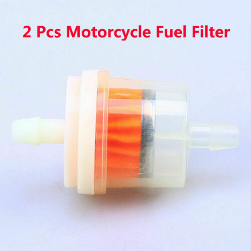 6mm-7mm Hose Motorcycle Scooter Inline Gas Fuel Clear Gasoline Filter 1//4/'/' 2Pcs