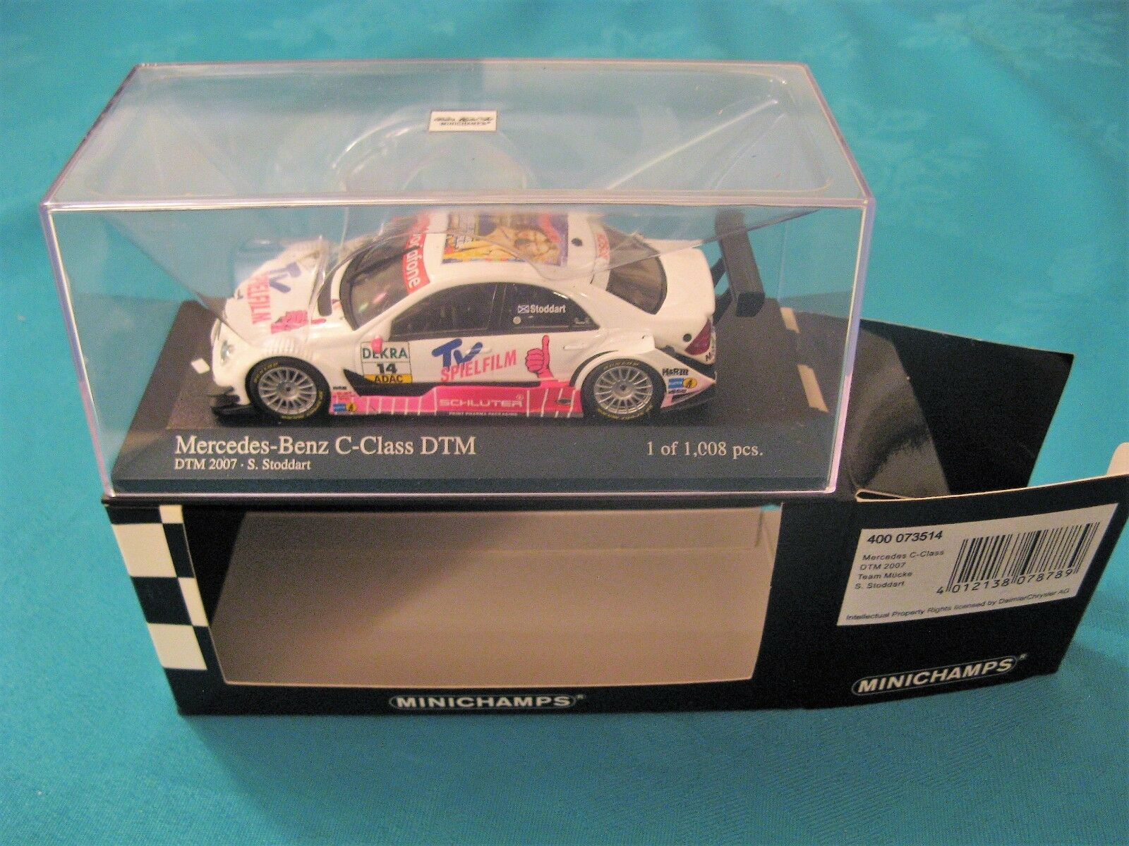 Minichamps Mercedes Benz C Class DTM S Stoddard 2007 Mint 1 43 Scale