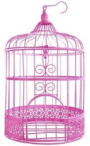 Briefbox Vogelkafig Kafig Pink Deko Hochzeit Geldbox Kartenbox