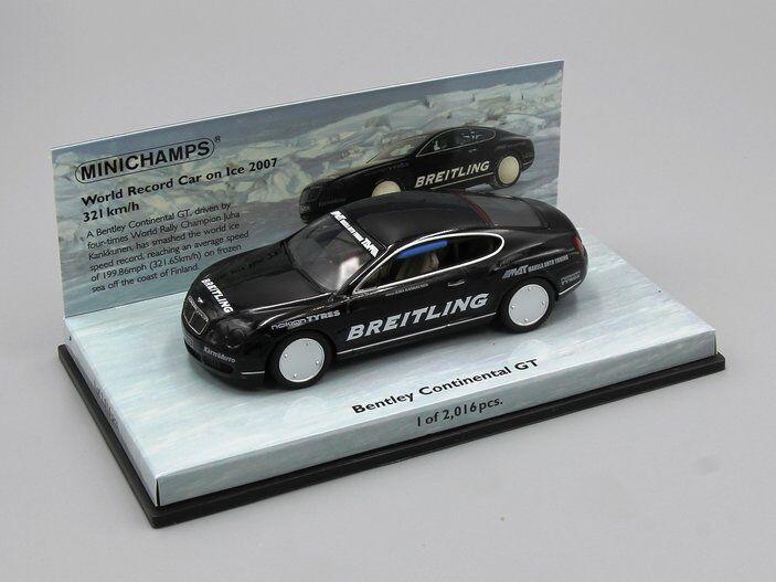 soporte minorista mayorista Minichamps 1 1 1 43 Bentley Continental GT COCHE récord mundial sobre hielo 2007 321 km  precio razonable
