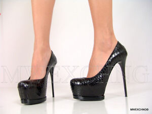 Details about Gianmarco Lorenzi High Heels Stiletto Python Leather Pumps EU 38 Womens Shoes