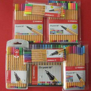 Stabilo-Point-88-Fineliner-Tintenschreiber-Set-5-6-10-15-20-25-30-Stifte-Sets