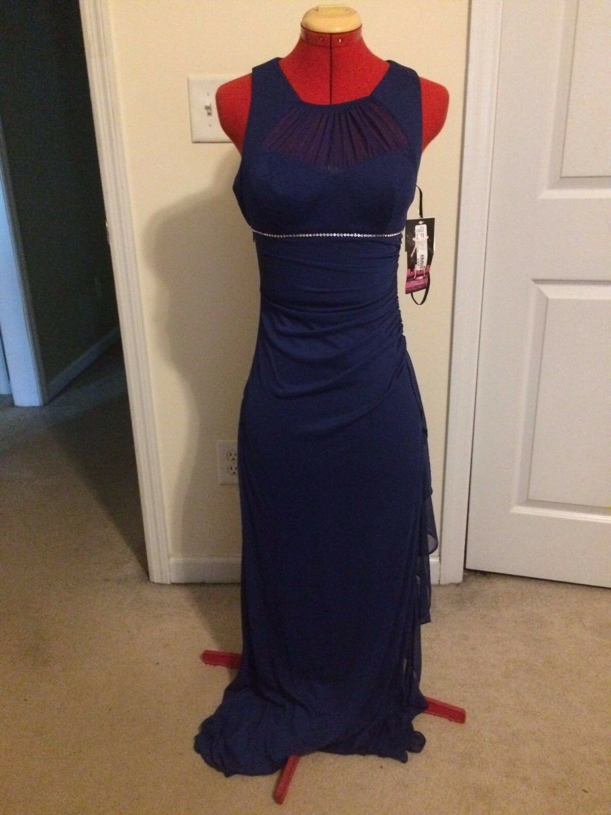 Blondie Nites Embellished Gown - bluee - Size 1 (Juniors) - NWT