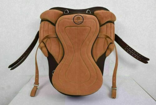 All Purpose Tan Brown Synthetic Freemax English Horse Tack Saddle All Size F//S