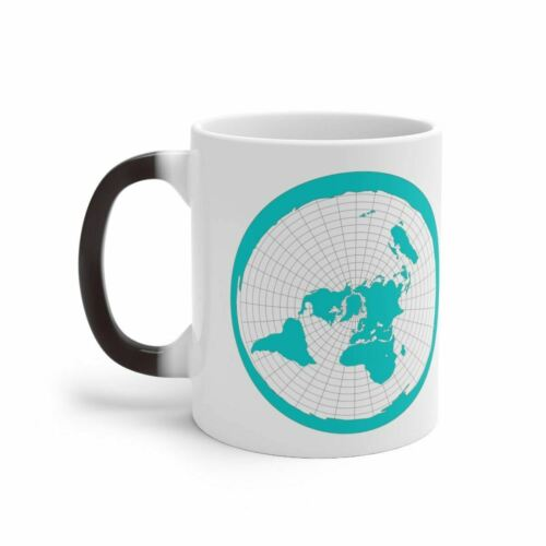 Color Changing Mug THE EARTH IS FLAT FLAT EARTH MAP