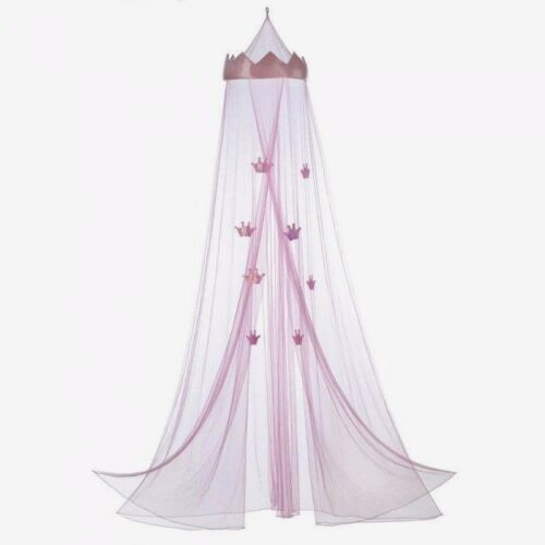 Crown Bed Canopy Princess Girl Child Pink Mesh Net