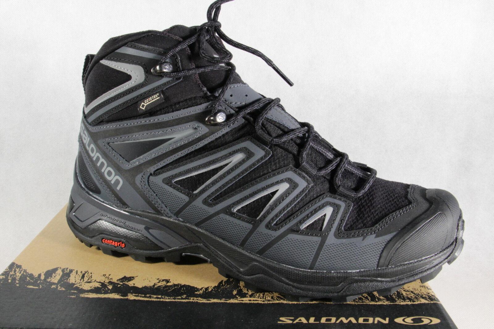 Salomon Stiefel Stiefel GTX X Ultra 3 MID GTX Stiefel schwarz/ grau wasserdicht Gore-Tex NEU d17db1