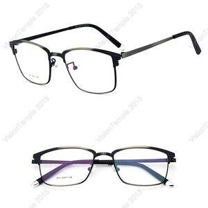 Designer-Nerd-Frame-Full-Rim-Glasses-Metal-Eyewear-Vintage-Spectacles-Clear-Lens