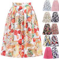 50er Jahre Retro Kurz Kleider Petticoat Tellerrock Pin UP Swing Röcke