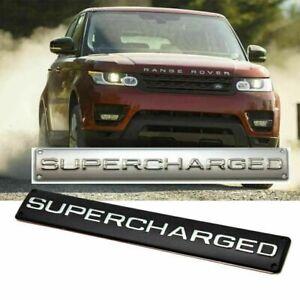 brand new 1x SUPERCHARGED Trunk Badge Emblem Black/silver
