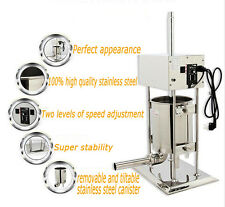 110V Commercial Electric Sausage Stuffer Meat Filler Making Machine 15L/33LB