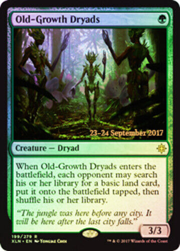Prerelease Promo NM-Mint 1x Old-Growth Dryads Foil English Pre-Release Prom