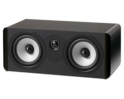 "Boston Acoustics A 225C Dual 5.25"" Woofer 2-Way Center Channel Speaker-Gloss BLK"