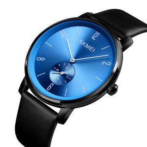 Mens-Womens-Big-Face-Quartz-Watch-Casual-Dress-Waterproof-Leather-Wristwatch-US