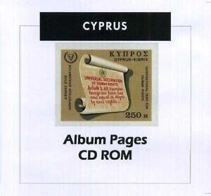 Cyprus - CD-Rom Stamp Album 1880-2016 Color Illustrated Album Pages