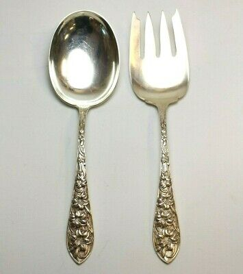 Lily by Frank Whiting Sterling Silver Salad Serving Fork AS 9/""