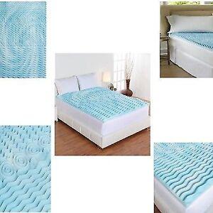 cooling gel mattress topper queen size Cooling Gel Foam Mattress Topper Pad Bed Queen Size 2