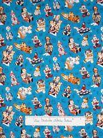 Southwest Fabric - Kachina Doll Native American Blue - Elizabeth's Studio Yard