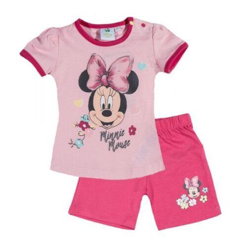 Glitzerdruck Disney Minnie Set rosa-pink 62-92 Zweiteiler Gr