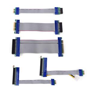 PCI-Express-PCI-E-1X-4X-8X-16X-Riser-Card-Ribbon-Extender-Extension-20cm-Cable